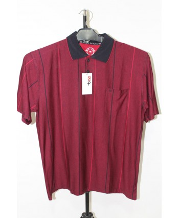 ERKEK T-SHIRT POLO YAKA BORDO 006-H