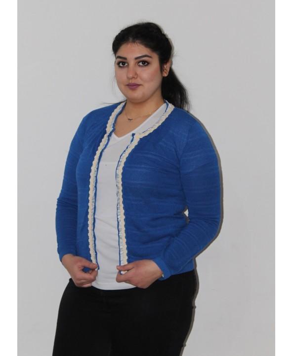 BAYAN HIRKA TRİKO MAVİ 34867