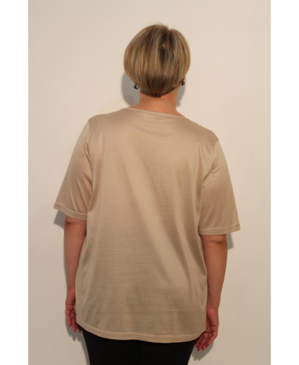 BAYAN T-SHIRT / KREM / ML-V1