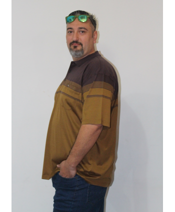 ERKEK T-SHIRT POLO YAKA KAHVELİ (model 3) - CM