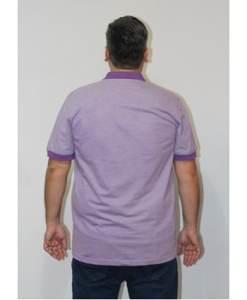 ERKEK T-SHIRT POLO YAKA LİLA (model 2) - N