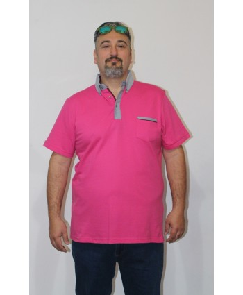 ERKEK T-SHIRT POLO YAKA PEMBE (model 1) - N