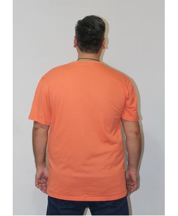 ERKEK T-SHIRT BİSİKLET YAKA TURUNCU (model 1) - N